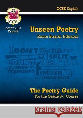 New Grade 9-1 GCSE English Literature Edexcel Unseen Poetry Guide CGP Books CGP Books  9781782949992