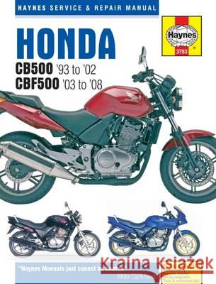 Honda CB500 Service and Repair Manual   9781785210013