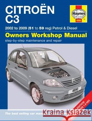 Citroen C3 Service and Repair Manual   9781785212918