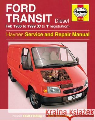 Ford Transit Diesel Service and Repair Manual 1986-1999 Anon 9781785213847