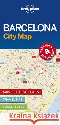 Lonely Planet Barcelona City Map Lonely Planet 9781786574107