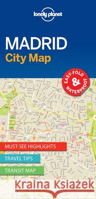 Lonely Planet Madrid City Map Lonely Planet 9781786577856