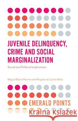 Juvenile Delinquency, Crime and Social Marginalization: Social and Political Implications Miguel Pereira Angela Maia 9781787436121