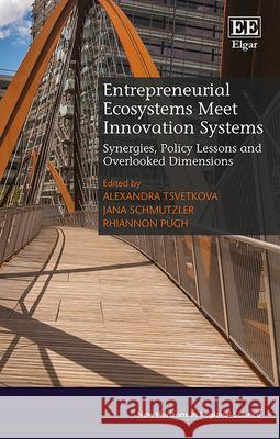 Entrepreneurial Ecosystems Meet Innovation Systems: Synergies, Policy Lessons and Overlooked Dimensions Alexandra Tsvetkova Jana Schmutzler Rhiannon Pugh 9781789901177