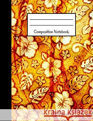 Composition Notebook: Old Vintage Yellow Flower Floral Design Large Notebook Blank Publishers 9781792949593