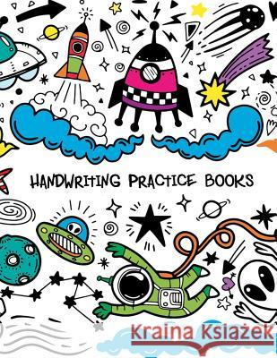 Handwriting Practice Books: Penmanship Paper Notebook Writing Hooked Learn Letter & Words with Dashed Center Line Narika Publishing 9781793469052
