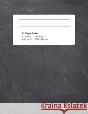 College Ruled: Black Cover Notebook 100 Sheets 200 Pages Michael S 9781795040921