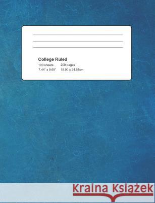 College Ruled: Blue Cover 100 Sheets 200 Pages Michael S 9781795052252