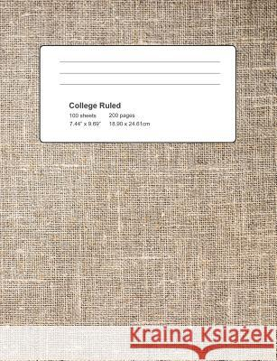 College Ruled: Textile Cover Notebook 100 Sheets 200 Pages Michael S 9781795345606