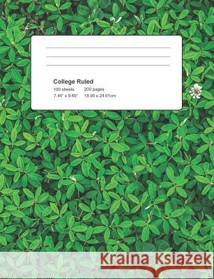 College Ruled: Leaf Cover Notebook 100 Sheets 200 Pages Michael S 9781795382199