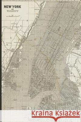 Vintage Map of New York City Journal Squidmore &. Company Stationery 9781796318074