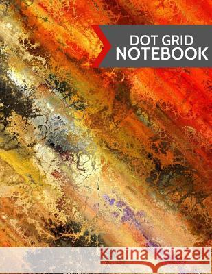Dot Grid Notebook: Modern Colorful Abstract Design: Paperback 120 Page, (Large 8.5
