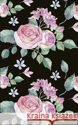 Pink Roses Black Background 5 X 8 Writer's Utility Notebook: The Perfect Size to Take in Your Purse, Satchel, Bookbag, Overnight Bag, Personal Airplan Maloney Schulte Designs 9781797425436