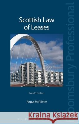 Scottish Law of Leases Angus McAllister 9781847665669