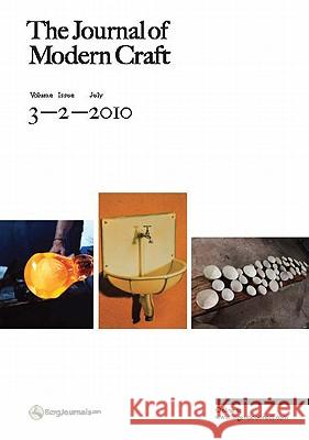 Journal of Modern Craft Glenn Adamson 9781847886712