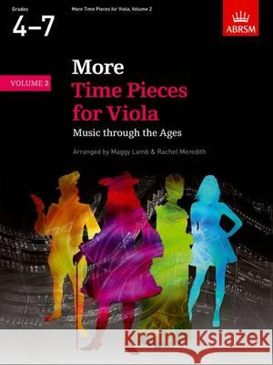 More Time Pieces for Viola Music Through the Ages  9781848497450