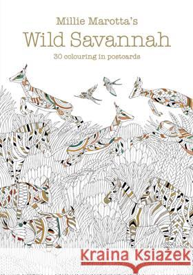 Millie Marotta's Wild Savannah Postcard Book 30 Beautiful Cards for Colouring in Marotta, Millie 9781849943819