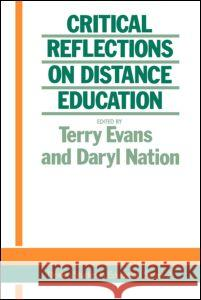 Critical Reflections on Dist. Evans T Terry Evans Terry D. Evans 9781850004639