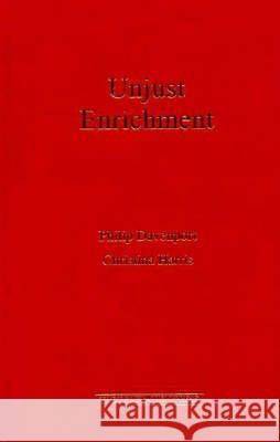 Unjust Enrichment Christina Harris Philip Davenport 9781862872554