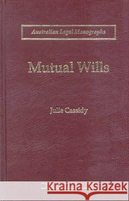 Mutual Wills  Cassidy, Julie 9781862873735
