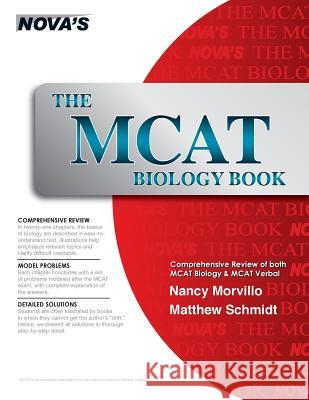 The MCAT Biology Book Nancy Morvillo Matthew Schmidt Jeff Kolby 9781889057071