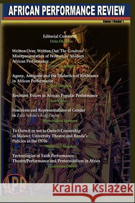 African Performance Review, Vol 1 No 1 2007 Osita Okagbue 9781905068906