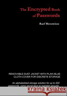 The Encrypted Book of Passwords Raef Meeuwisse 9781911452027 Cyber Simplicity Ltd