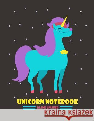 Unicorn Journal: Blank Unlined: Big 8.5 X 11 Journal, Over 100 Pages Doodle Sketchbook for Drawing & Creative Activities Blank Books Jouranls 9781974102235