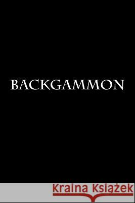 Backgammon: Notebook Wild Pages Press 9781977957344