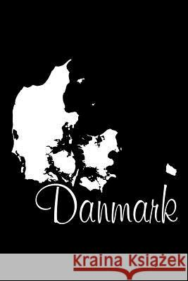 Danmark - Black Lined Notebook with Margins (Denmark): 101 Pages, Medium Ruled, 6 X 9 Journal, Soft Cover Legacy 9781977961259