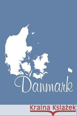 Danmark - Blue-Gray Lined Notebook with Margins (Denmark): 101 Pages, Medium Ruled, 6 X 9 Journal, Soft Cover Legacy 9781977961273