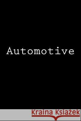 Automotive: Notebook Wild Pages Press 9781978260702