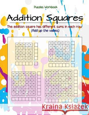 Addition Squares Puzzles: The Addition Square Has Different Sums in Each Row, Column and Diagonal, Workbook Large Size, Children's Books Grades Birth Booky 9781984901095