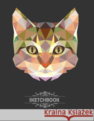Sketchbook: Cat Cover Blank Pages, Extra Large (8.5 X 11) Inches, 110 Pages, White Paper, Sketch, Draw and Paint F. Rainbow 9781985056763