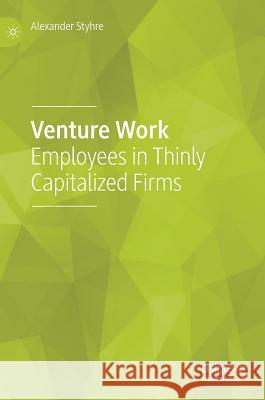 Venture Work: Employees in Thinly Capitalized Firms Alexander Styhre 9783030031794