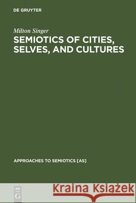 Semiotics of Cities, Selves, and Cultures : Explorations in Semiotic Anthropology  9783110126013