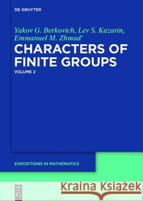 Characters of Finite Groups  9783110224085