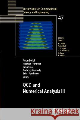 QCD and Numerical Analysis III : Proceedings of the Third International Workshop on Numerical Analysis and Lattice QCD, Edinburgh, June-July 2003 Artan Boric'i Andreas Frommer Balint Joo 9783540212577