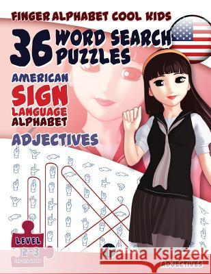 36 Word Search Puzzles - American Sign Language Alphabet - Adjectives    9783864691041