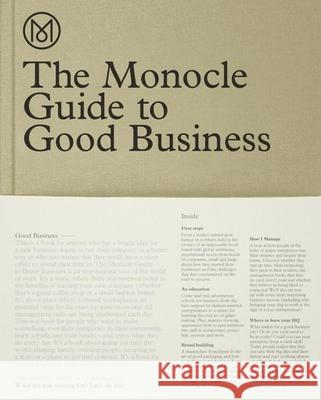 The Monocle Guide to Good Business Monocle 9783899555370 Gestalten Verlag