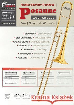 Zugtabelle Fr Posaune [position Charts for Trombone]: German / English Language Edition, Chart  9783943638653