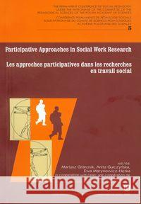 Participative approaches in social work research Les approches participatives dans les recherches en travail social  9788375254747