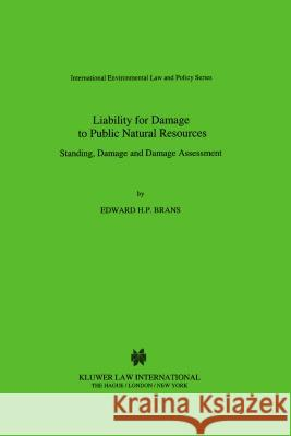 Liability for Damage to Public Natural Resources: Standing Damage and Damage Assessment Edward H. P. Brans 9789041117243