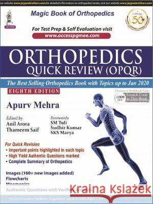 Orthopedics Quick Review Apurv Mehra   9789389776768