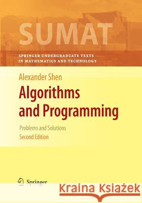 Algorithms and Programming: Problems and Solutions