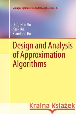 Design and Analysis of Approximation Algorithms