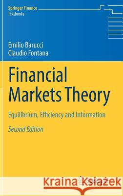 Financial Markets Theory: Equilibrium, Efficiency and Information