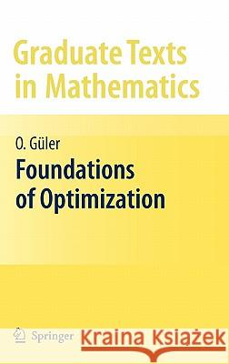 Foundations of Optimization