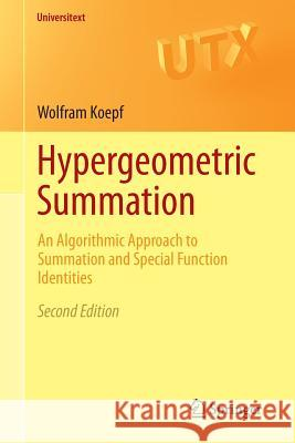 Hypergeometric Summation: An Algorithmic Approach to Summation and Special Function Identities