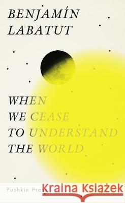 When We Cease to Understand the World